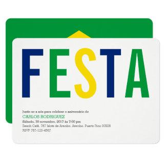 Tarjeta Festa el Brasil