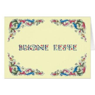 Tarjeta Feste de Buone - buenas fiestas en italiano
