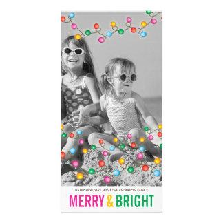 Tarjeta festiva colorida de la foto del día de