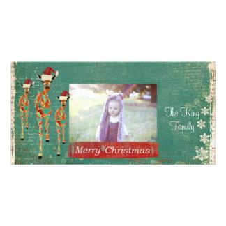 Tarjeta festiva de la foto de las Felices Navidad  Tarjetas Fotográficas