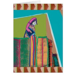 Tarjeta Festival INDIO de colores - hai de HOLI