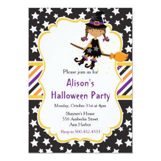 Tarjeta Fiesta afroamericano lindo de Halloween de la