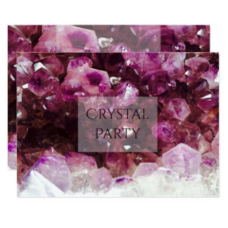 Tarjeta Fiesta cristalino Amethyst elegante