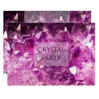 Tarjeta Fiesta cristalino Amethyst púrpura