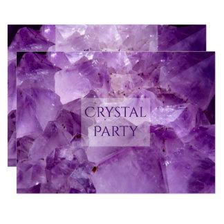 Tarjeta Fiesta cristalino Amethyst púrpura bonito