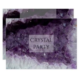 Tarjeta Fiesta cristalino de la cueva Amethyst