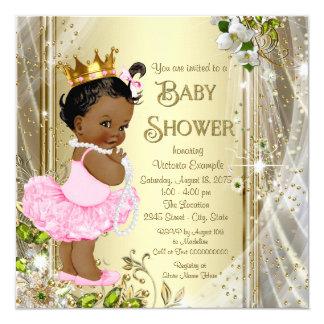 Tarjeta Fiesta de bienvenida al bebé afroamericana de
