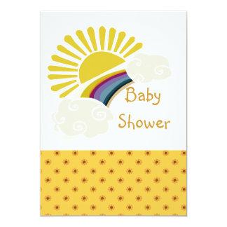 Tarjeta Fiesta de bienvenida al bebé de la sol y de las