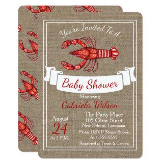 Tarjeta Fiesta de bienvenida al bebé de los cangrejos de