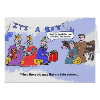 Tarjeta Fiesta de bienvenida al bebé de los hombres sabios