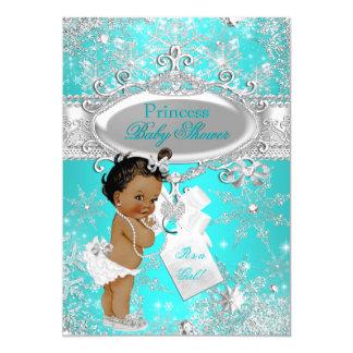 Tarjeta Fiesta de bienvenida al bebé de princesa Winter