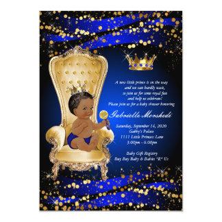 Tarjeta Fiesta de bienvenida al bebé del azul real,