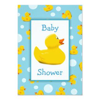 Tarjeta Fiesta de bienvenida al bebé Ducky y de las