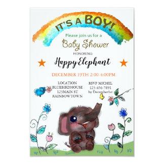 Tarjeta Fiesta de bienvenida al bebé feliz de la ciudad