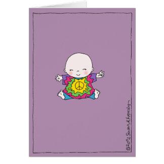 Tarjeta Fiesta de bienvenida al bebé linda del Hippie/del