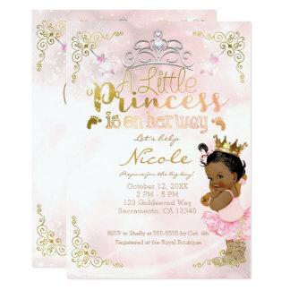 Tarjeta Fiesta de bienvenida al bebé rosada de princesa