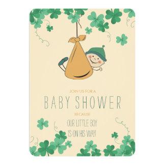 Tarjeta Fiesta de bienvenida al bebé temática irlandesa