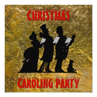 Tarjeta Fiesta de Caroling del navidad del Victorian