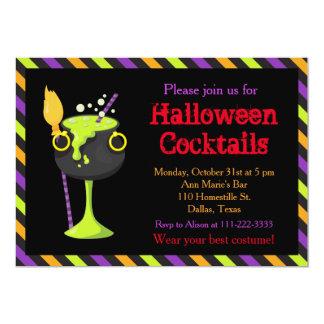 Tarjeta Fiesta de cócteles fantasmagórico de Halloween