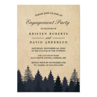 Tarjeta Fiesta de compromiso del boda del bosque del árbol