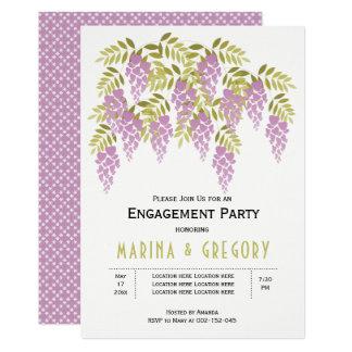 Tarjeta Fiesta de compromiso del boda del verde de las