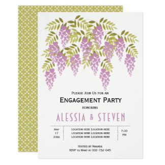 Tarjeta Fiesta de compromiso floral del boda de las