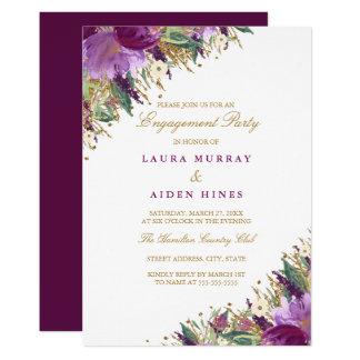 Tarjeta Fiesta de compromiso púrpura Amethyst del boda el