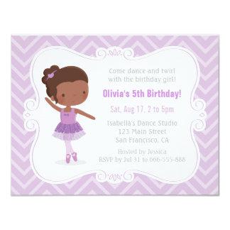 Tarjeta Fiesta de cumpleaños afroamericana del chica de la