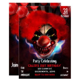 Tarjeta Fiesta de cumpleaños asustadiza espeluznante de