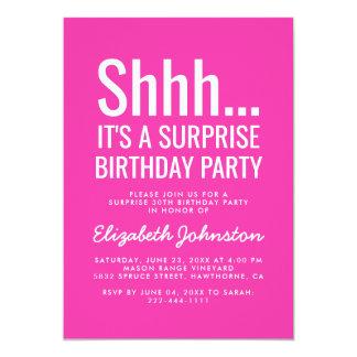 Tarjeta Fiesta de cumpleaños de la sorpresa