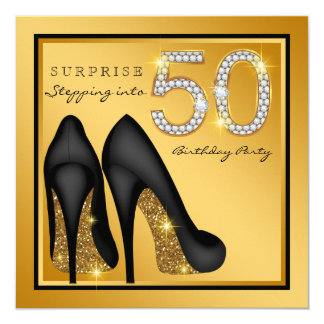 Tarjeta Fiesta de cumpleaños de la sorpresa de la mujer