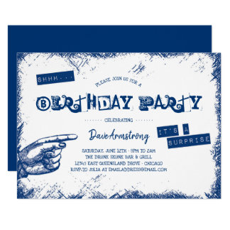 Tarjeta Fiesta de cumpleaños de la sorpresa del Grunge