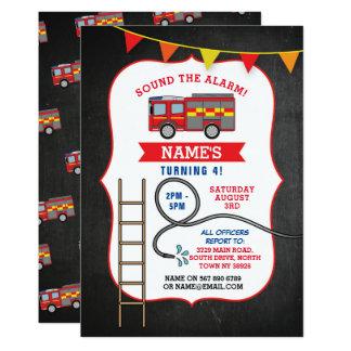 Tarjeta Fiesta de cumpleaños del camión del coche de