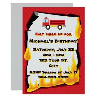 Tarjeta Fiesta de cumpleaños del cuerpo de bomberos