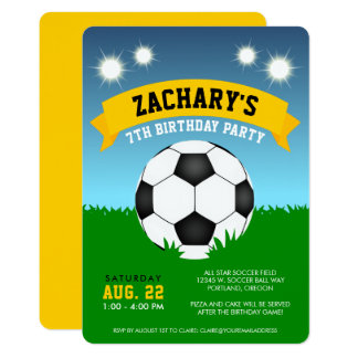 Tarjeta Fiesta de cumpleaños del fútbol