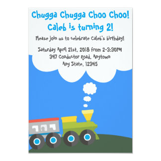 Tarjeta Fiesta de cumpleaños del tren de Choo Choo