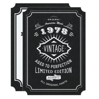 Tarjeta Fiesta de cumpleaños del vintage del lazo negro