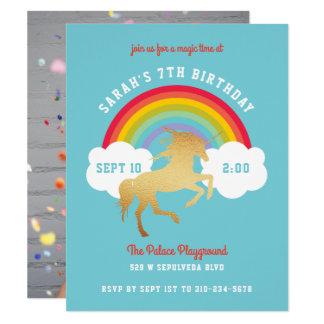 Tarjeta Fiesta de cumpleaños neutral del arco iris del