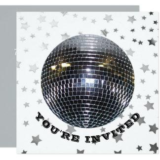 Tarjeta Fiesta de disco retro 70s de la fiesta de