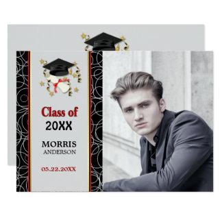 Tarjeta Fiesta de graduación abstracta moderna 2018 de la