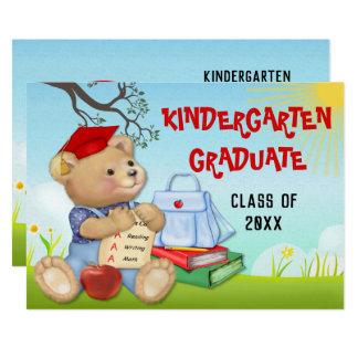 Tarjeta Fiesta de graduación de la guardería del oso de