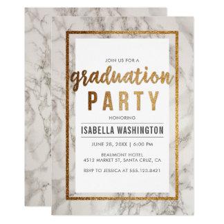Tarjeta Fiesta de graduación elegante de la tipografía del