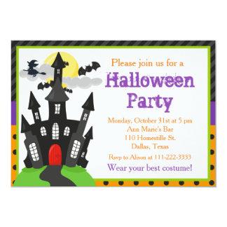 Tarjeta Fiesta de Halloween de la casa encantada