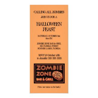 Tarjeta Fiesta de Halloween de la zona del zombi