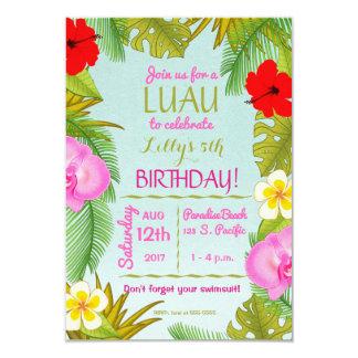 Tarjeta Fiesta de la celebración del cumpleaños de Luau