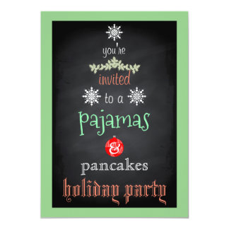 Tarjeta Fiesta de la familia de los pijamas y de las