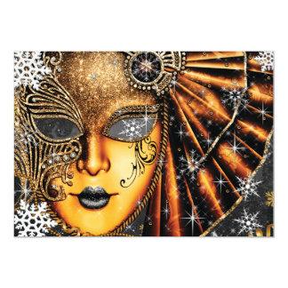 Tarjeta Fiesta de la mascarada de los Años Nuevos del