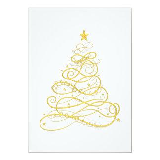 Tarjeta Fiesta de Navidad - árbol de navidad afiligranado