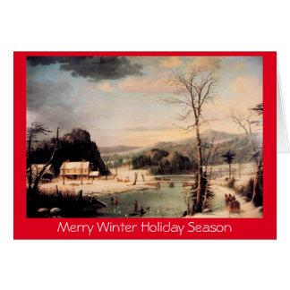 Tarjeta Fiesta de Navidad, saludo tradicional del Año