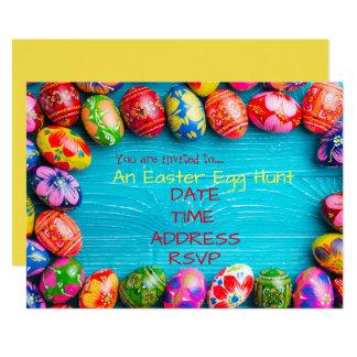 Tarjeta Fiesta de Pascua de la caza del huevo de Pascua